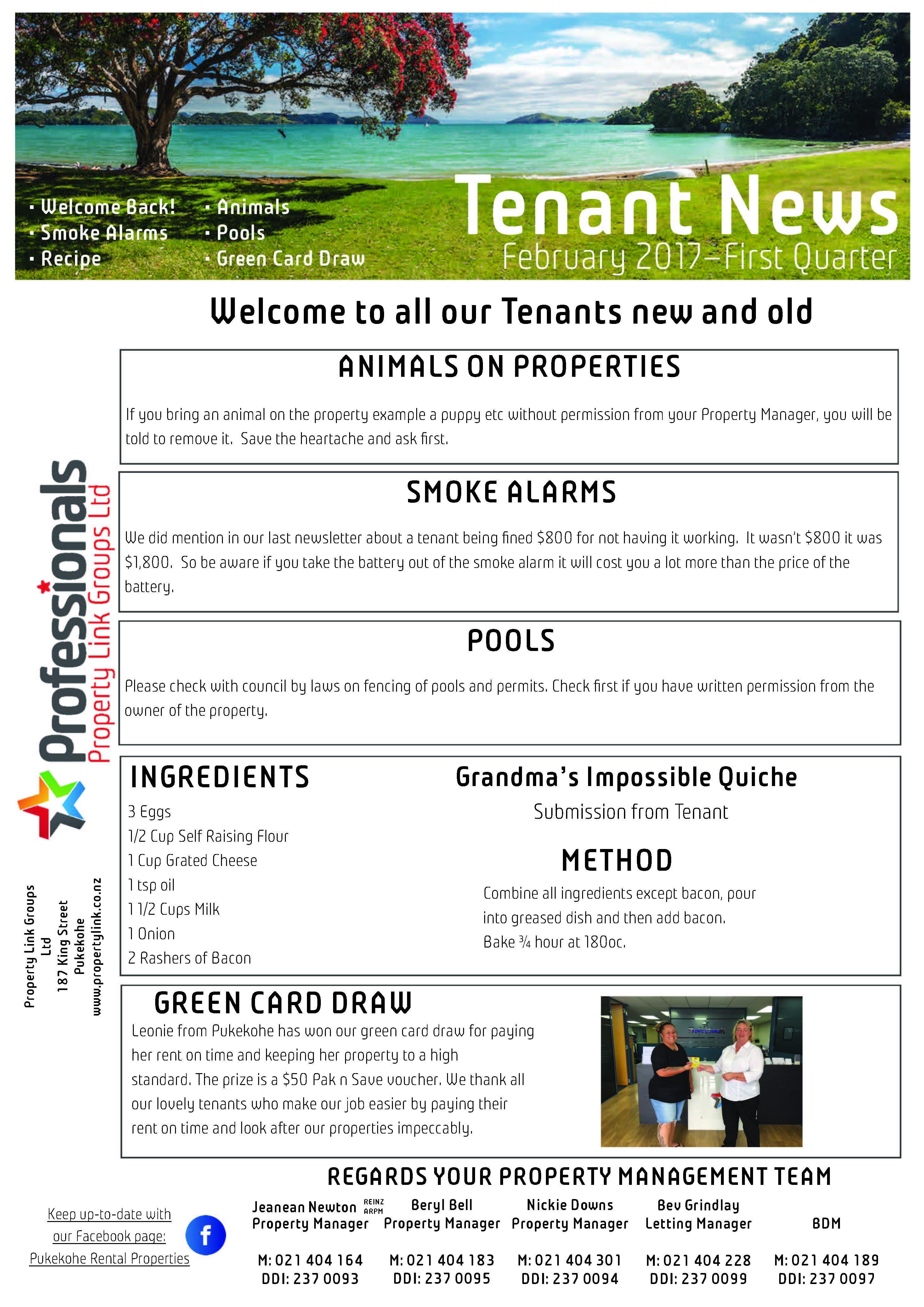Tenant News Feb 2017